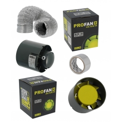 Pack ventilation PROFAN 2x107m3/h - Diam 100mm
