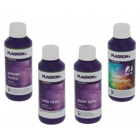 Pack additif et stimulant Plagron 4x100ml