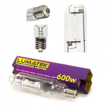 Lampe MH 600W LUMATEK - 6400K croissance