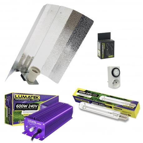 Kit lampe électro Lumatek 600W