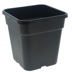 Pot carré noir 11 litres - 25 x 25 x 25.5 cm