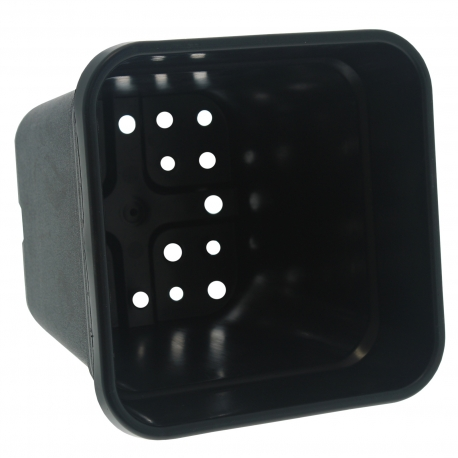 Pot carré noir de 14 litres - 28.5 x 28.5 x 29cm