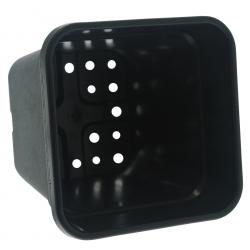 Pot carré noir de 25 litres - 33.5 x 33.5 x 34cm
