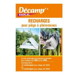 Recharges engluées x 2 pour piège à phéromones - Decamp radical
