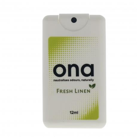 ONA Spray CARD senteur FRESH LINEN - 12ml