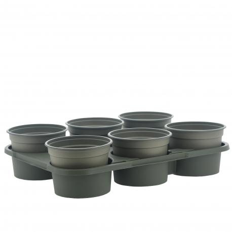 Plateau avec pots 6 x12cm - GARLAND