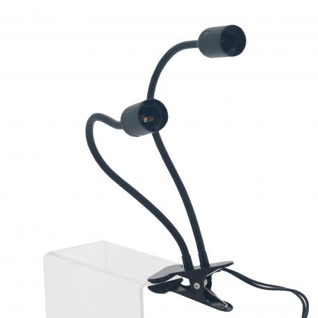 Support de spot LED FLEXIBLE à CLIP double