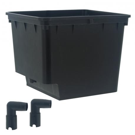Pot BATO 10 litres - 25x30x23cm + 2 coudes