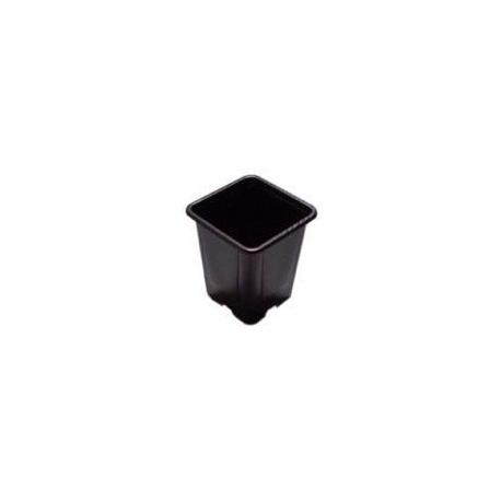 Godet en PVC noir - 9 x 9 x 10cm