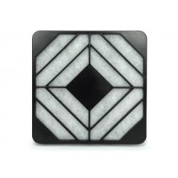 Grille PVC + filtre Média blanc