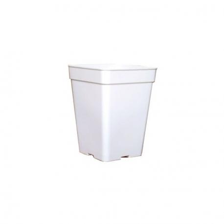 Pot carré blanc 20 litres - 27 x 27 x 40cm
