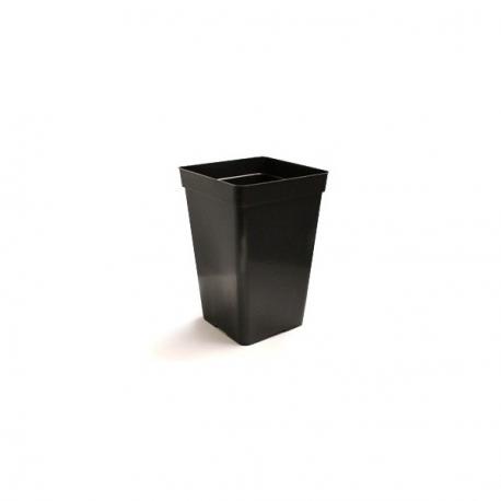 Pot carré noir haut 1.8 litres - 10.5 x 10.5 x 22cm