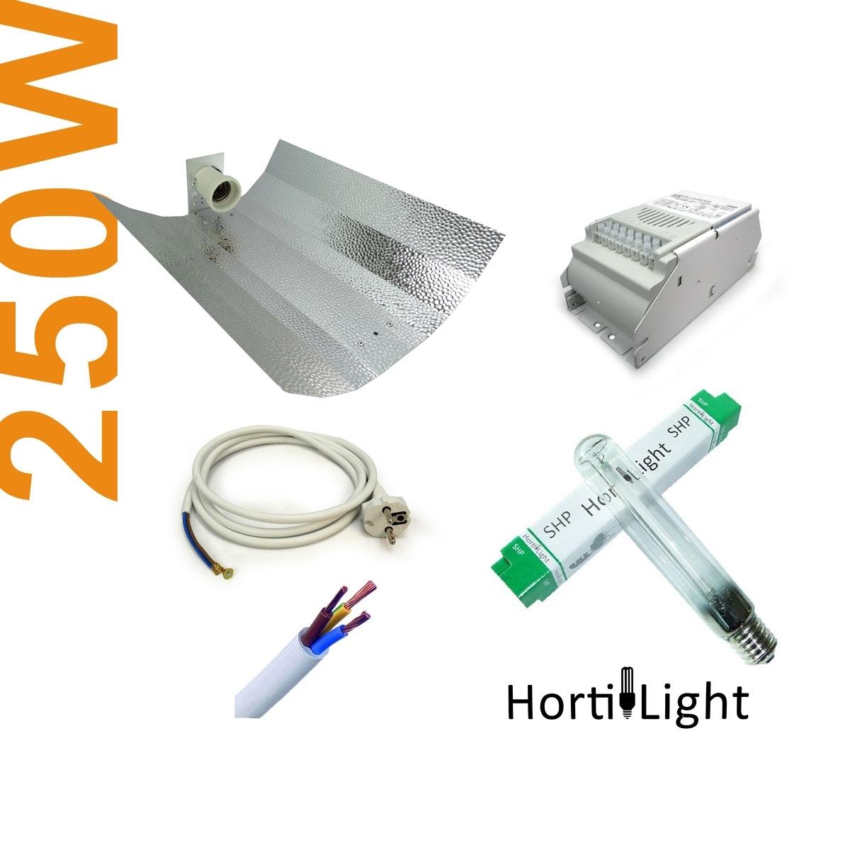 Kit clairage int rieur hps 250w co hydrozone for Kit culture interieur