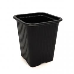 Godet en PVC noir 7 x 7 x 8cm