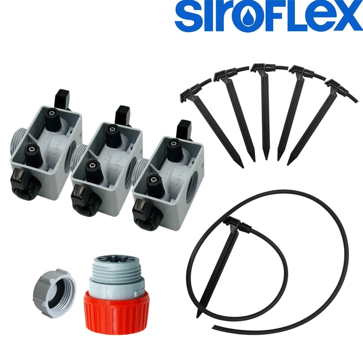 Irrigation siroflex kit arrosage goutte goutte pour 6 for Kit culture interieur