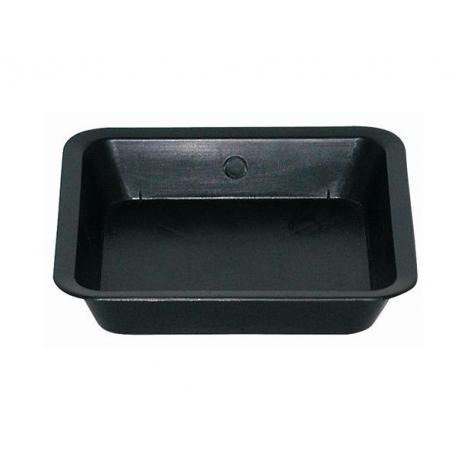 Soucoupe carrée noire 25 x 25cm - PASQUINI & Bini