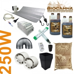 Pack de culture terre Canna BIO + éclairage 250W