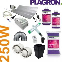 Pack de culture Terre Plagron + éclairage 250W