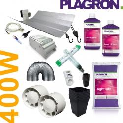 Pack de culture Terre Plagron + éclairage 400W