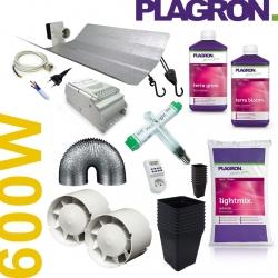 Pack de culture Terre Plagron + éclairage 600W