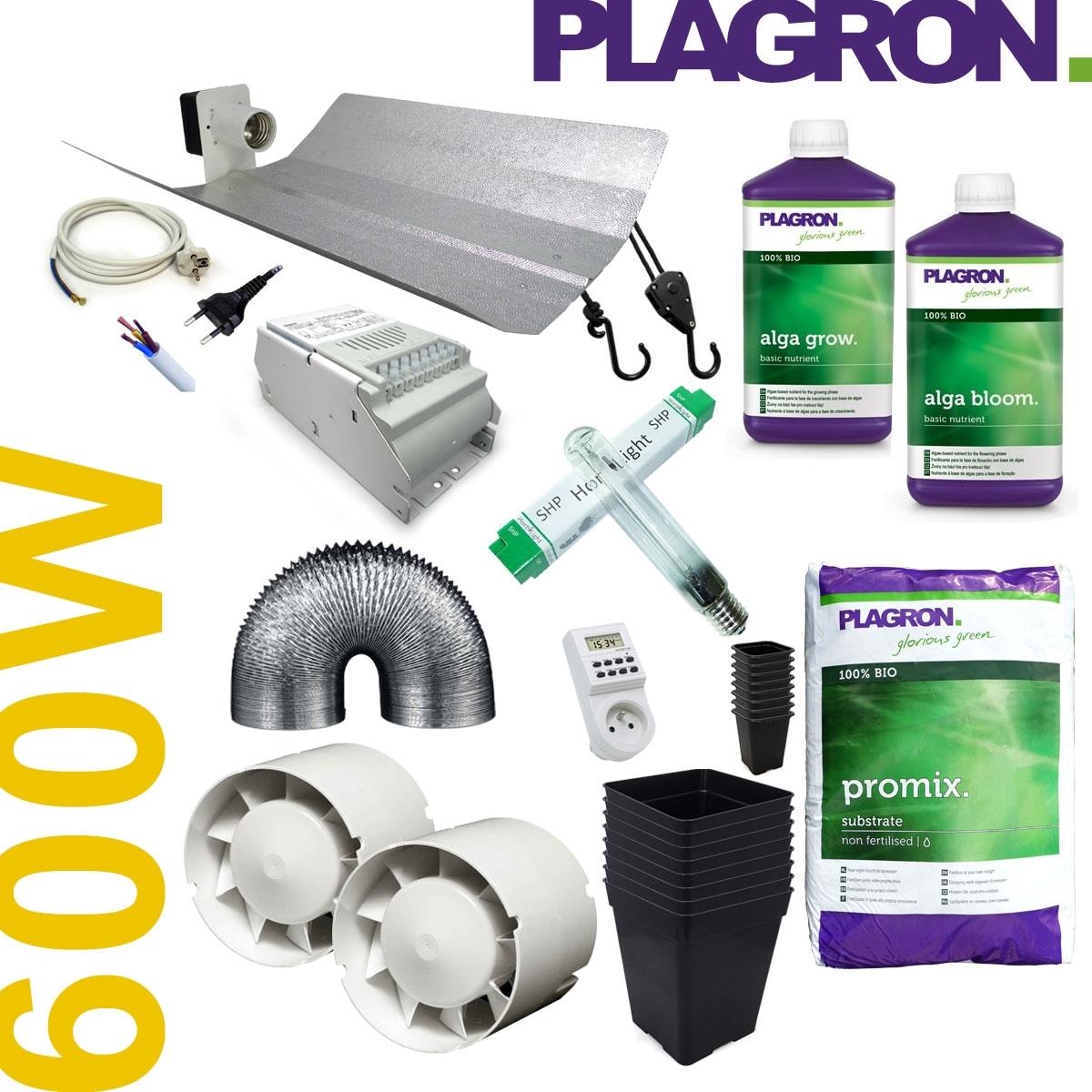 Kit de culture 600w avec engrais alga plagron hydrozone for Kit culture interieur