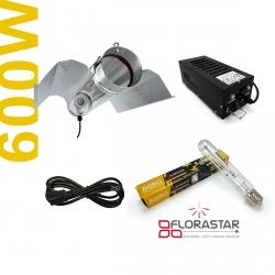 Kit lampe 600W Black Box - Agro Florastar + BAT cooltube