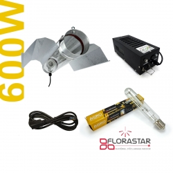 Kit lampe 600W Black Box - Agro Florastar + BAT cooltube