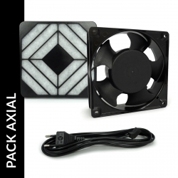 Pack ventilateur axial + filtre + cable