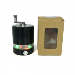 GRINDER ClearView Moulin DISCO LED - 63 mm - Noir