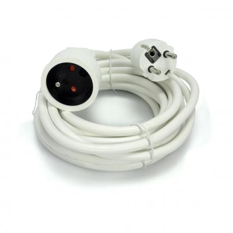 Cordon prolongateur 5 mètres - blanc