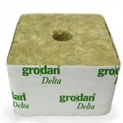 Cube de laine de roche Grodan DELTA 100mm - 25/15