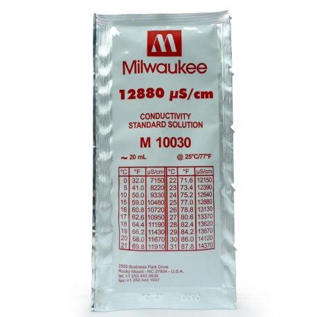Solution EC 12.880 µS/cm - 20ml - Milwaukee