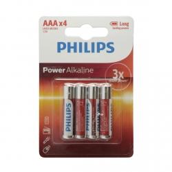 BLISTER 4 PILES - AAA (LR03) PHILIPS