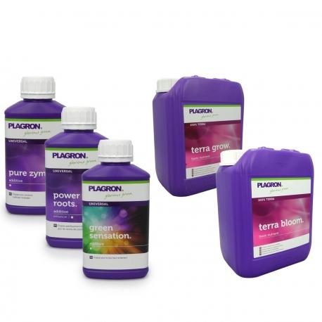 Pack engrais Terra Grow & Bloom 5 Litres - PLAGRON