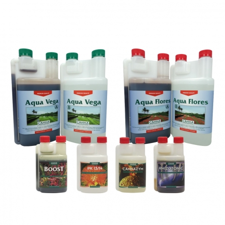 Pack engrais AQUA Vega & Flores - 1 litre - CANNA