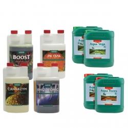 Pack engrais Aqua VEGA & FLORES - 5 litres - CANNA