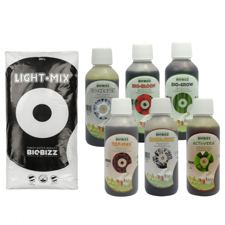 Substrat Light.Mix 20 litres + engrais terre 250ml - BIOBIZZ