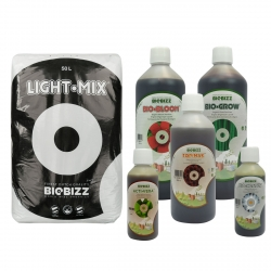 Substrat Light.Mix 50 litres + engrais terre 1 litre - BIOBIZZ