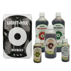 Substrat Light.Mix 50 litres + engrais terre 1 litre - BIOBIZZ