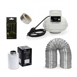 Kit extracteur 280m3/h + filtre à charbon Prima Klima 100mm