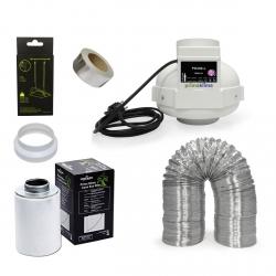 Kit extracteur 950m3/h + filtre à charbon Prima Klima 200mm