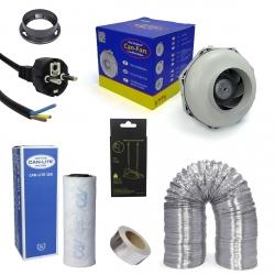 Kit extracteur 350m3/h + filtre à charbon Can-Lite 125mm