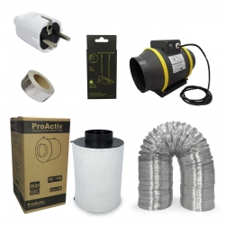 Kit extracteur 1218m3/h + filtre à charbon Proactiv 200mm